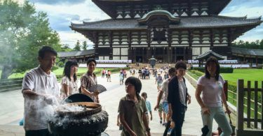 Stirring the Incense at the Todai-ji Temple in Nara