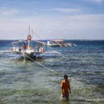 Preparing the banca for an island hopping excursion at Mactan Is