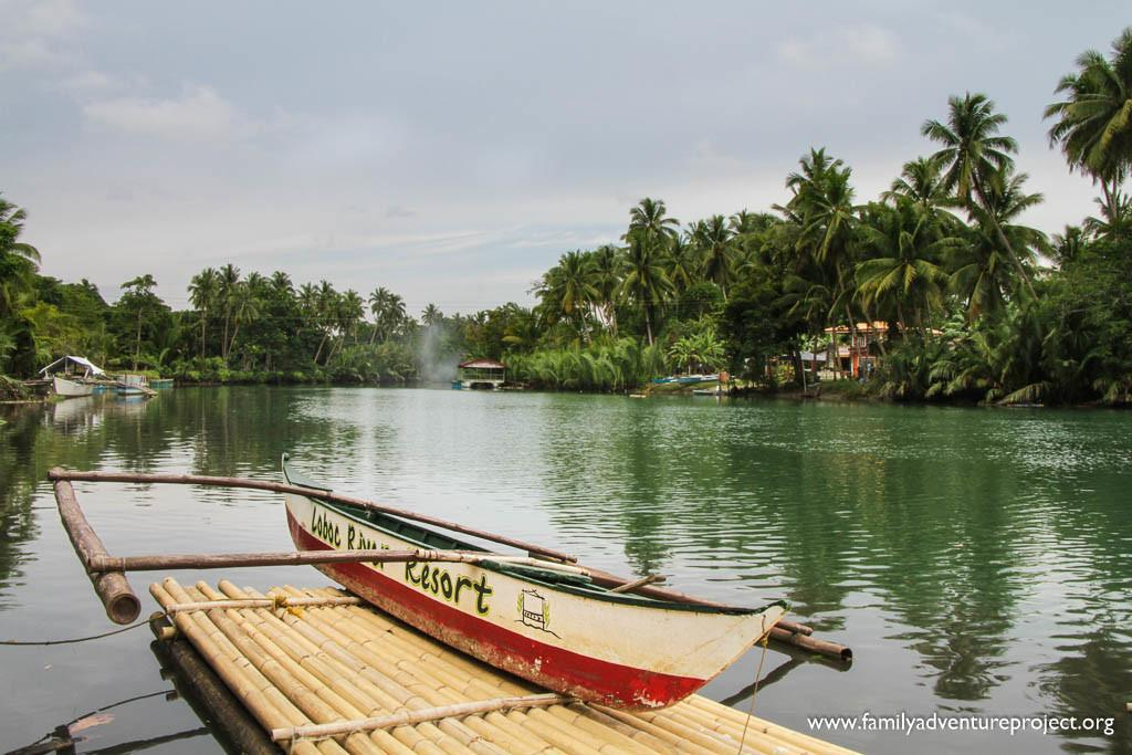 Looking down the Loboc River from the Loboc River Resort