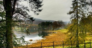 Coniston from East Shore Road in Autumn