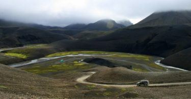 Road to Landmannalaugar Iceland