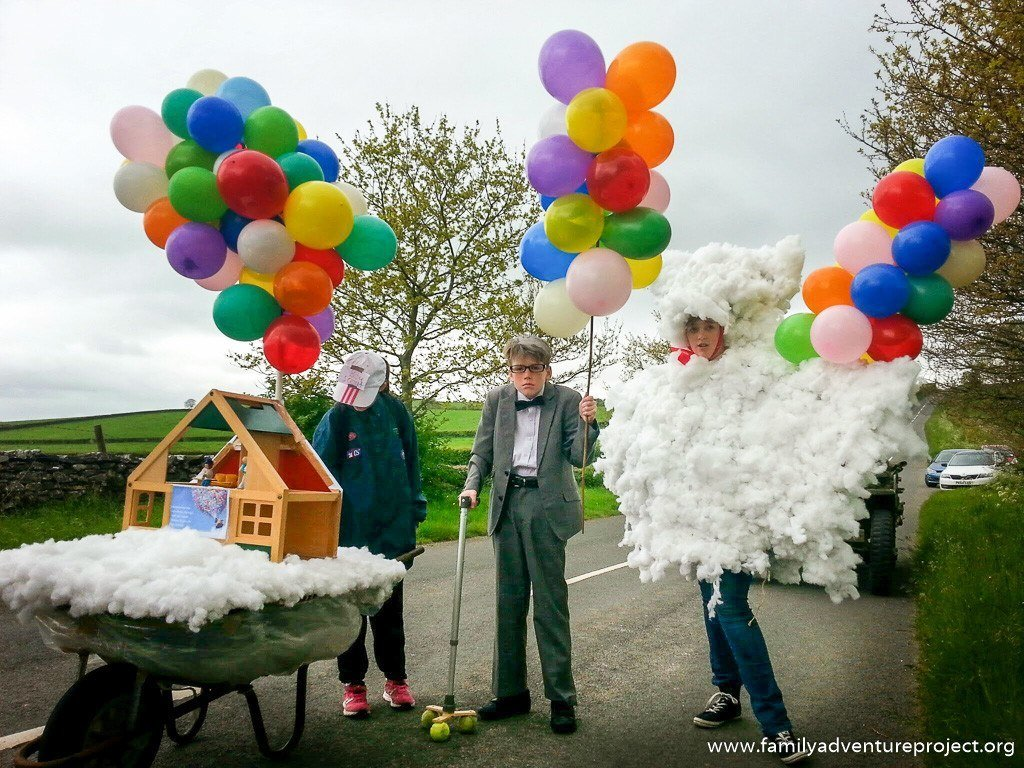 Disney Pixar Up Parade at Village Carnival Burton
