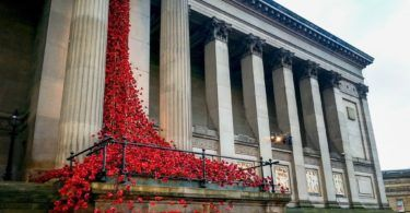 Weeping Window at St George's Hall in Liverpool
