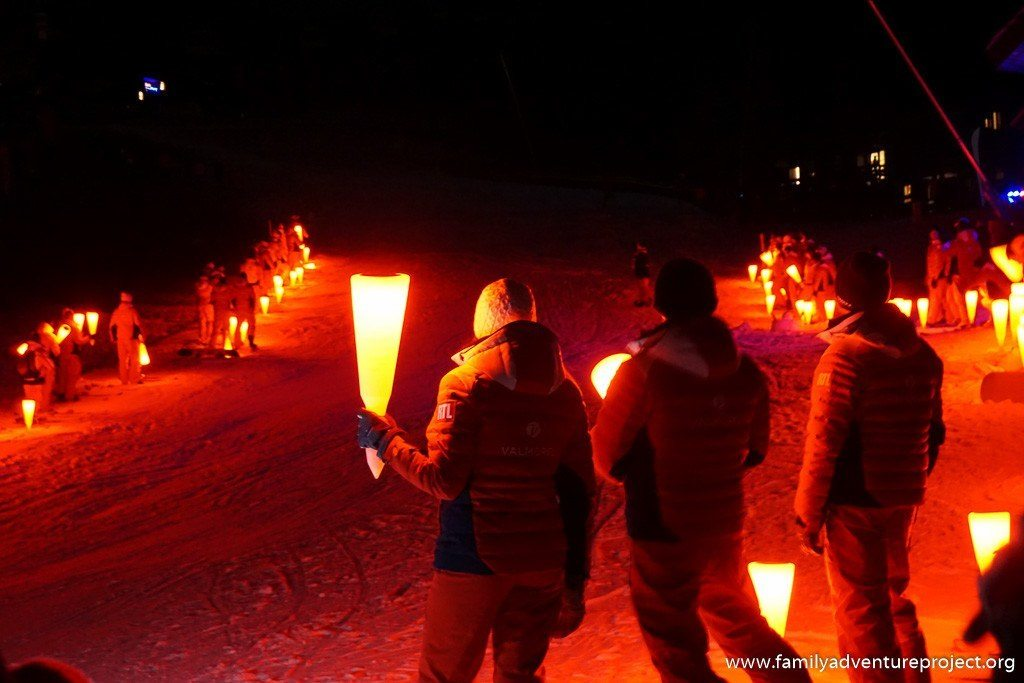 Torchlight descent in Valmorel