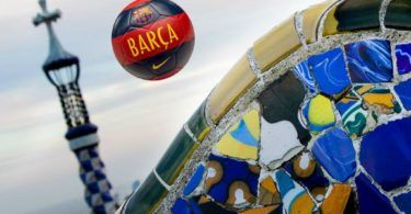 Barcelona Barc Ball over Parc Guell