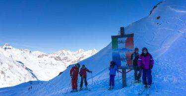 Ski into Italy from La Rosiere