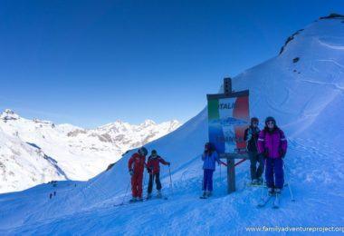Ski into Italy from La Rosiere