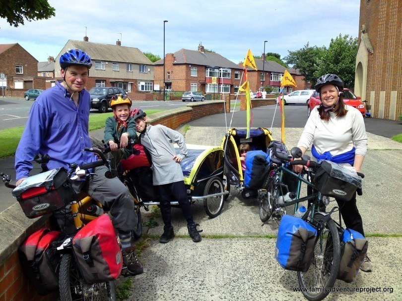Setting off for Italy on Family Cycle Tour