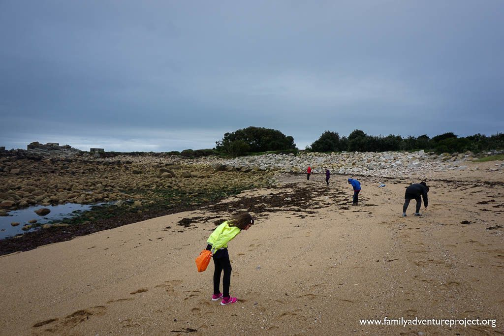Beachcombing on Isles of Scilly