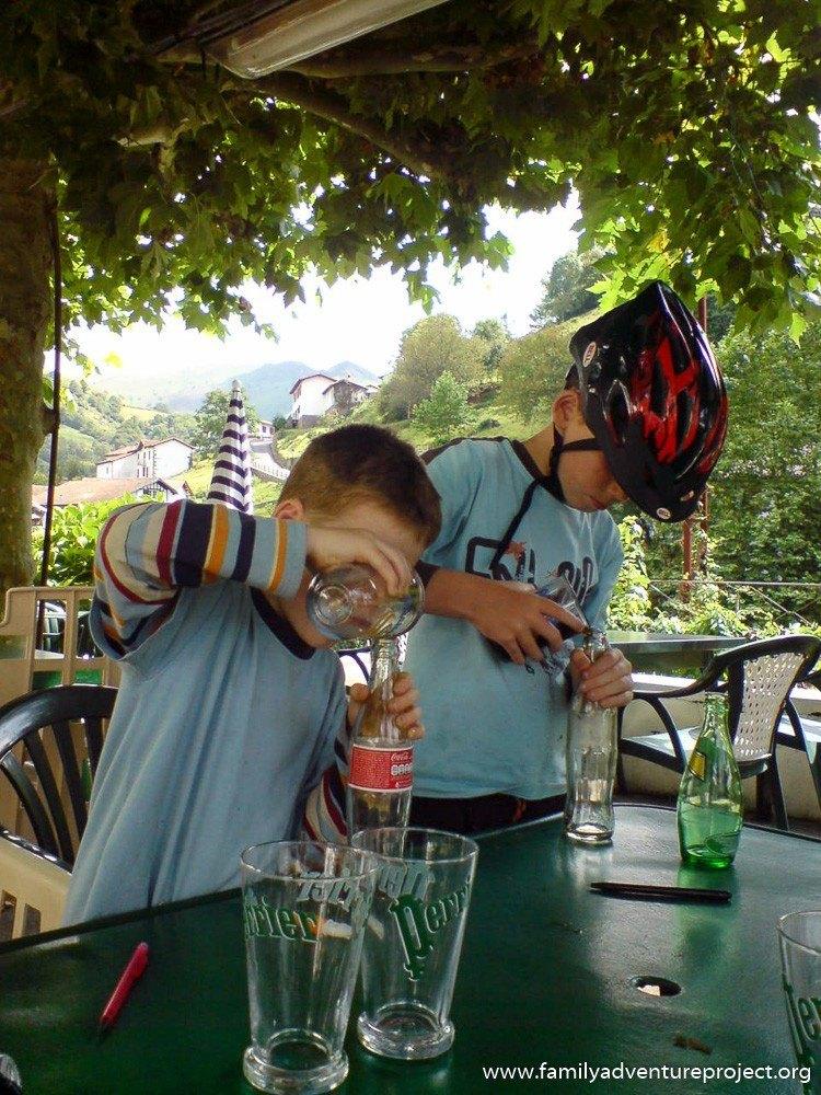 Kids drinking coke