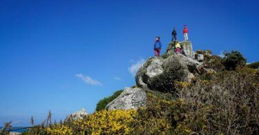 Climbing on Tresco near the Ruin Bay Beach Cafe