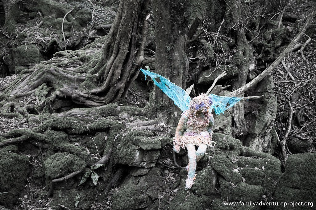 Fairy in Puzzlewood at Forest of Dean