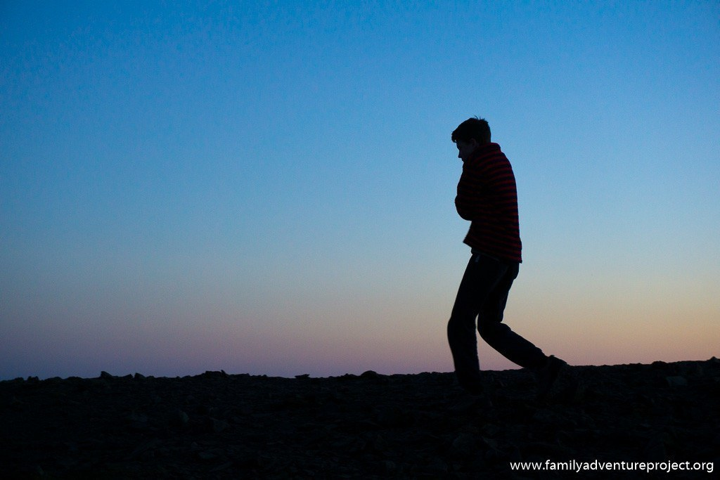 Sunset walk on Skiddaw