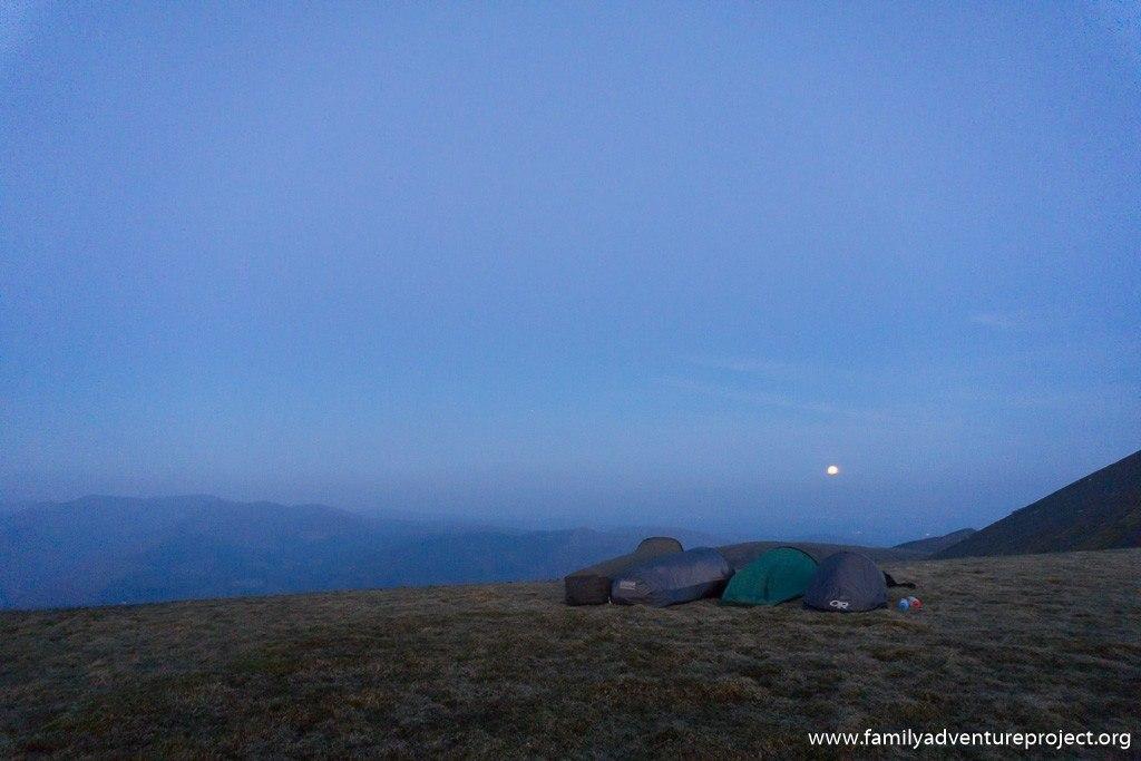 Moonlight bivi on Skiddaw, Cumbria