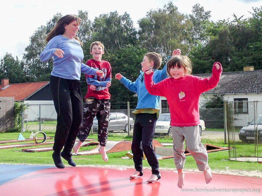 Fun theory in action - on a trampoline