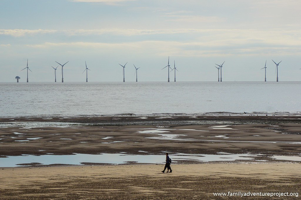 Shingle banks on Westtern side of Walney Island look out onto the offshore wind farm.