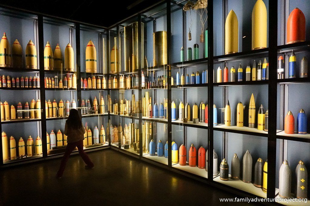 Examining Munitions at Memorial Museum Passchendaele, Zonnebeke, Belgium