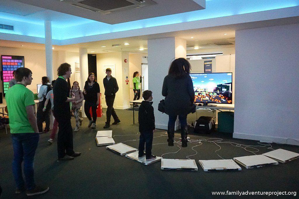 Not levitating but family gaming at GameCity Foyer Nottingham, 2015
