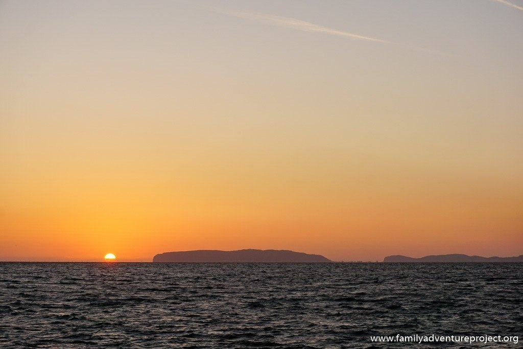 Sunrise over the Great Orme from Beaumaris