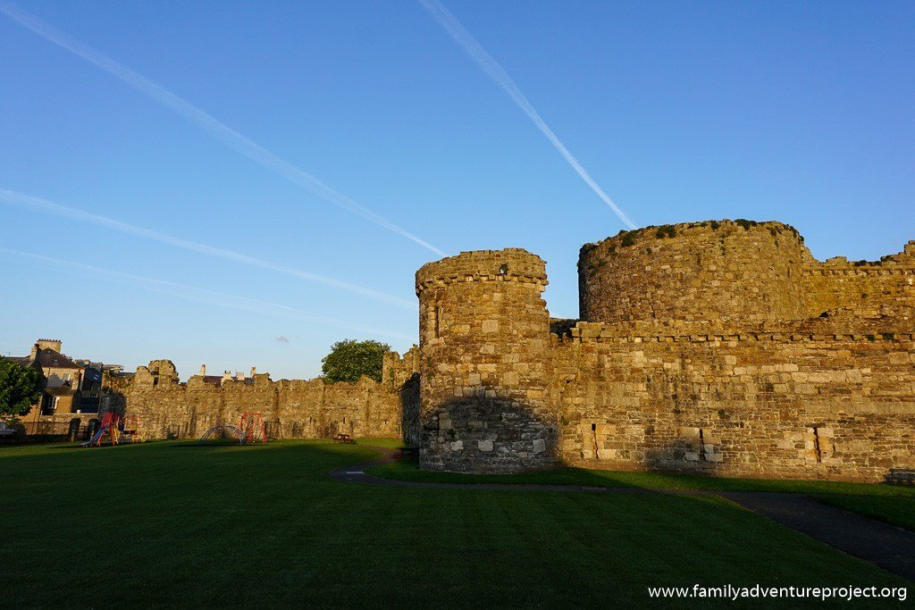 Beaumaris Castle in early morning light