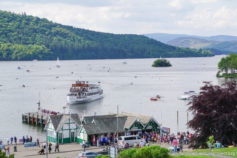 MV Teal approaches Bowness in summer season