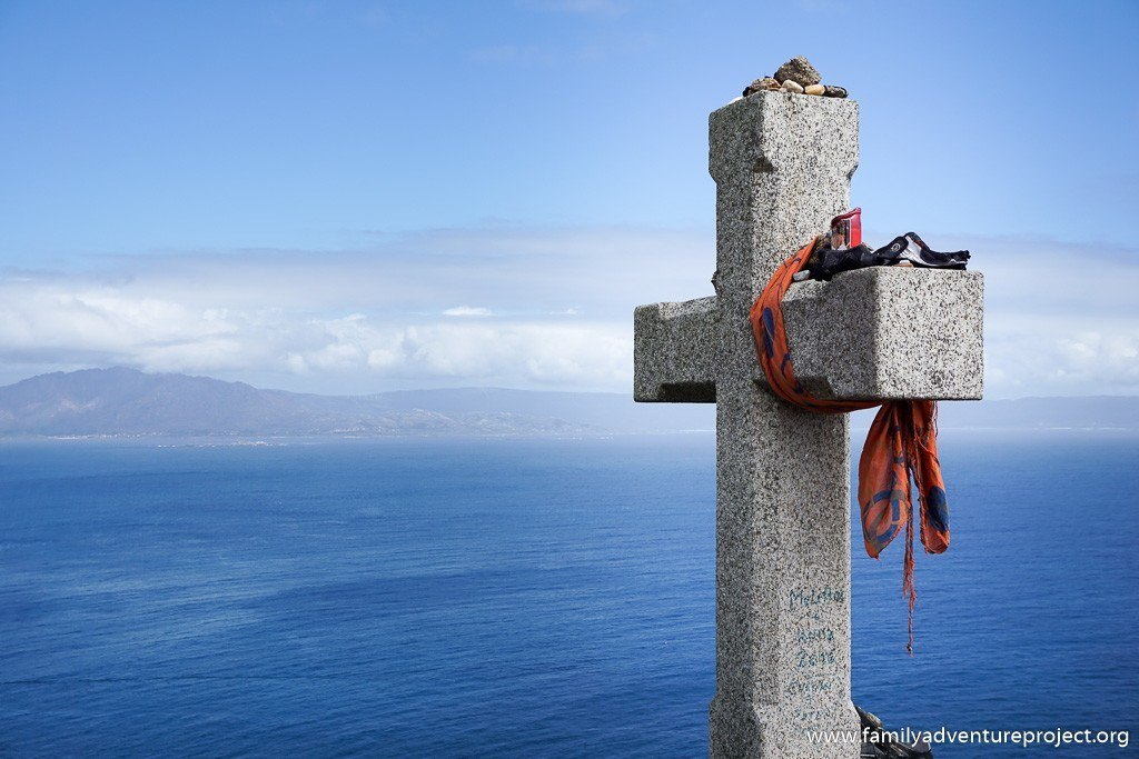 Cross at Finisterre Lighthouse, Galicia