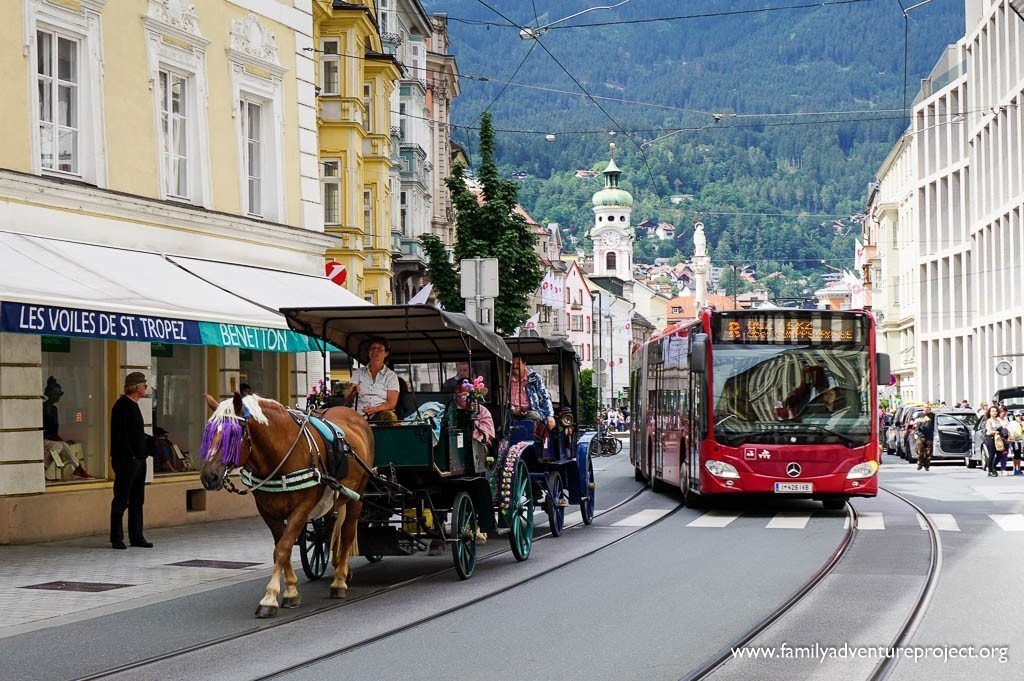 Innsbruck is a compact mix of old and new, city and mountain