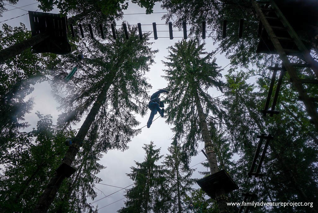 High Ropes in Parc Diables, Les Diablerets, Switzerland