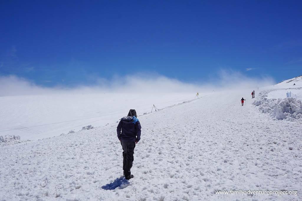 Glacier walk on Glacier de Tsanfleuron at Les Diablerets Glacier 3000