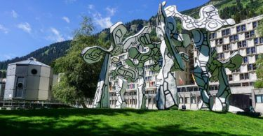 Le Boqueteau by Jean Dubuffet in Flaine