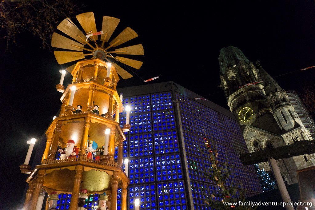 Christmas Pyramid at Kaiser Wilhelm Memorial Church and Christmas Market, Berlin