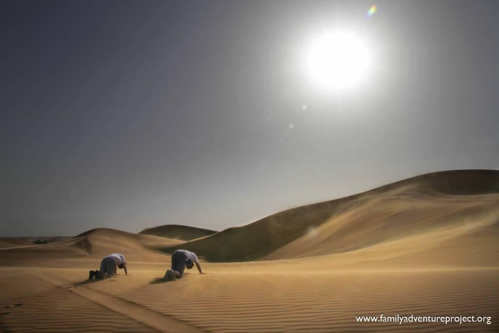 Salute to the Sun on a Dubai Desert Safari