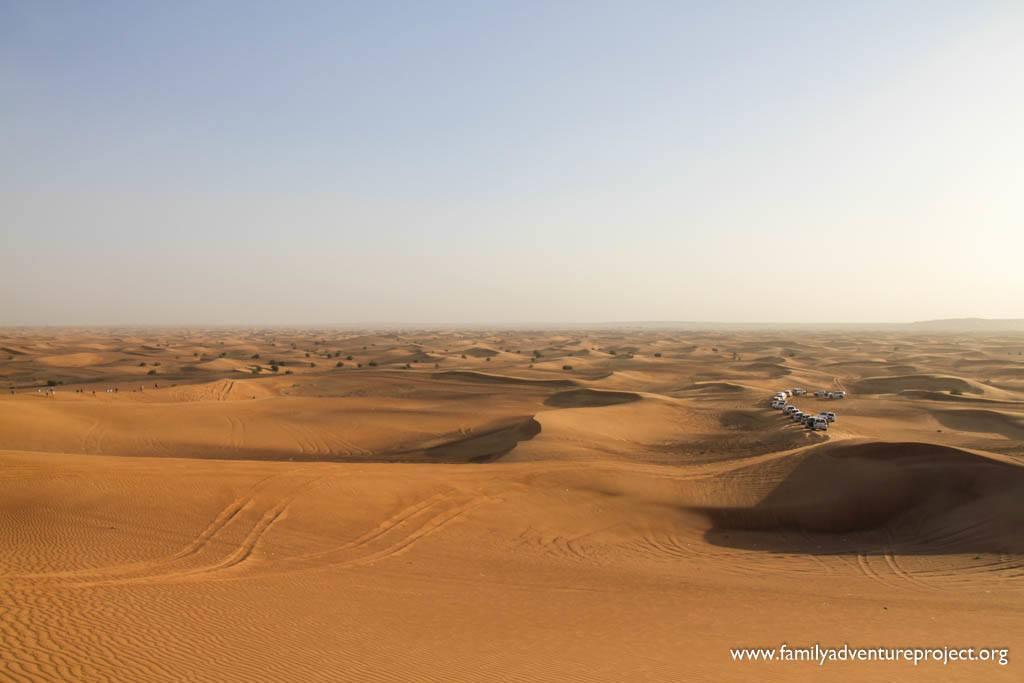 4WD convoy in the Dubai Desert
