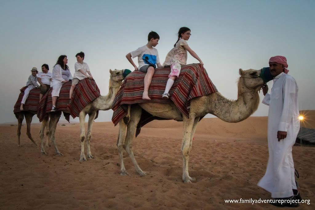 Riding Camels in Dubai Desert Safari