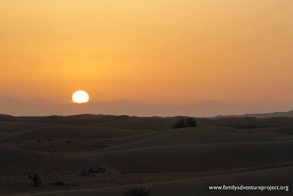 Sunrise in Dubai Desert