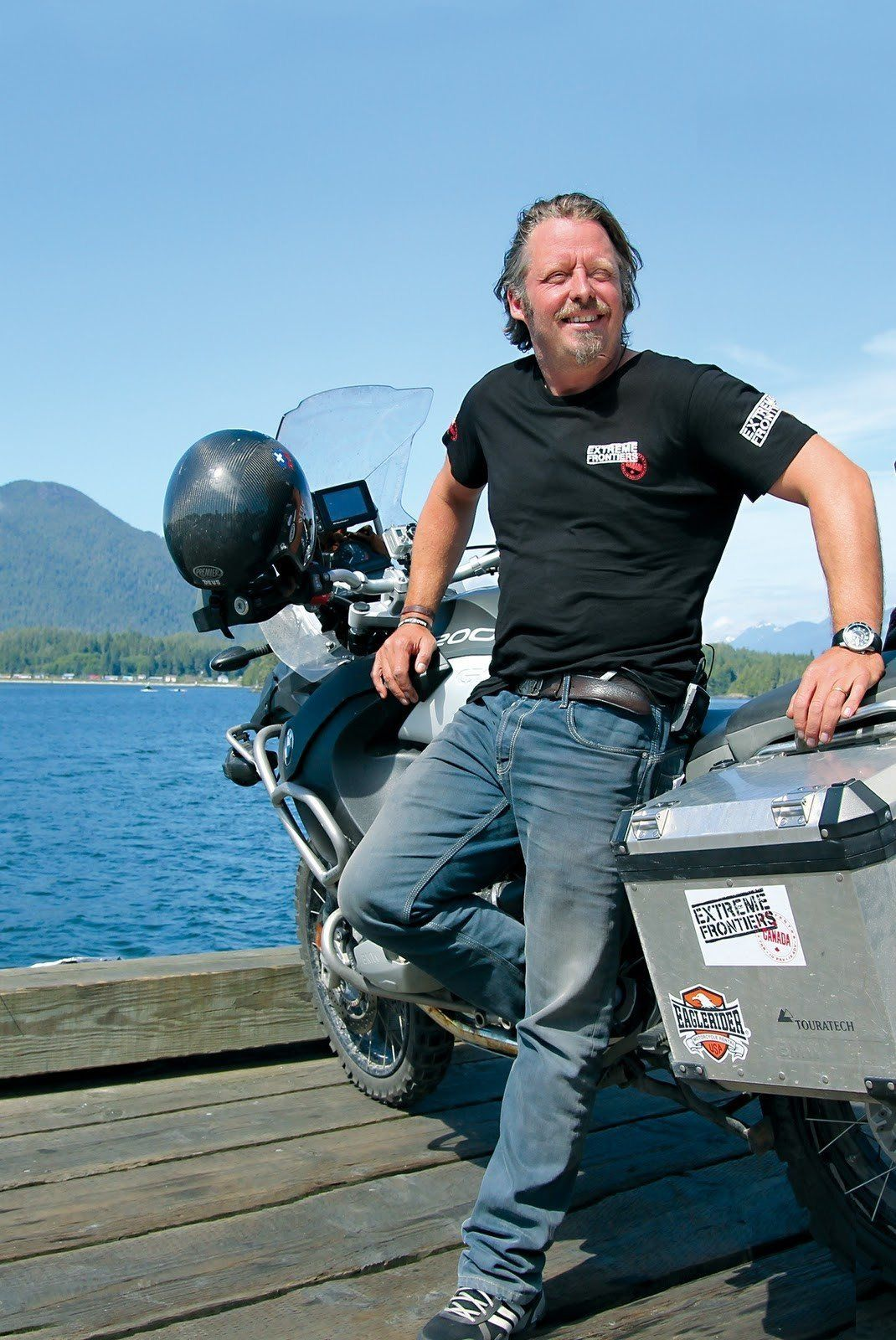 Adventure Rider and Dad Charley Boorman Extreme Frontiers: Racing Across Canada from Newfoundland to the Rockies