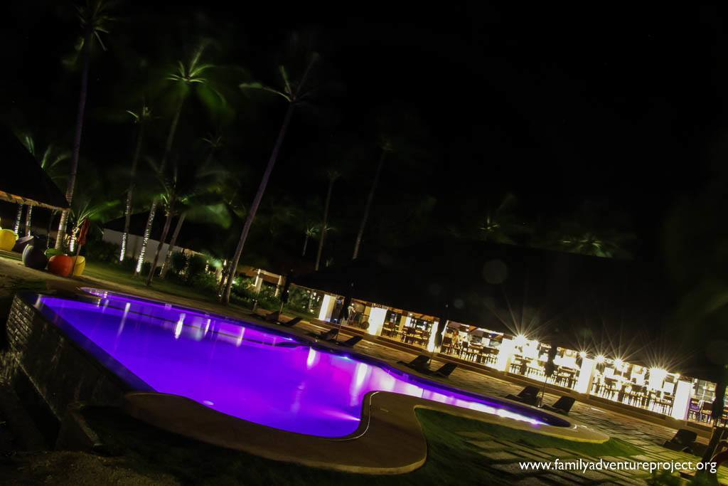Evening at the Pool at South Palms Resort Panglao, Bohol, Philippines