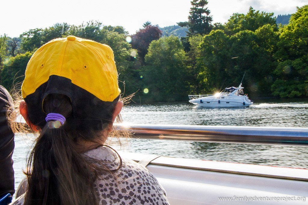 Watching the boats from MV Swan on Windermere
