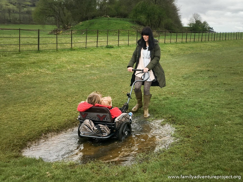 Testing the Yippie Yo Crossbuggy in the puddles