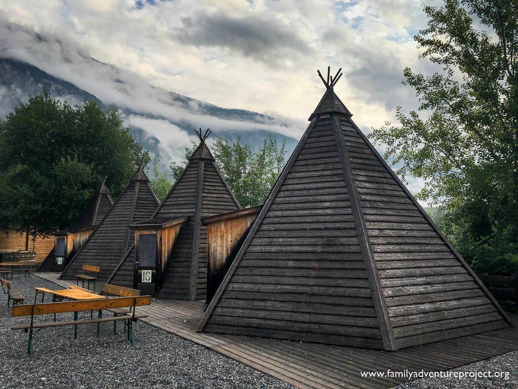 Wooden Tipi Accomodation at Area 47, Ötztal, Austria