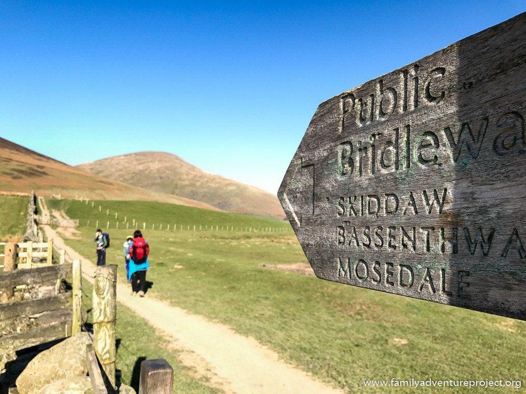 Hiking up Skiddaw from Keswick, Cumbria