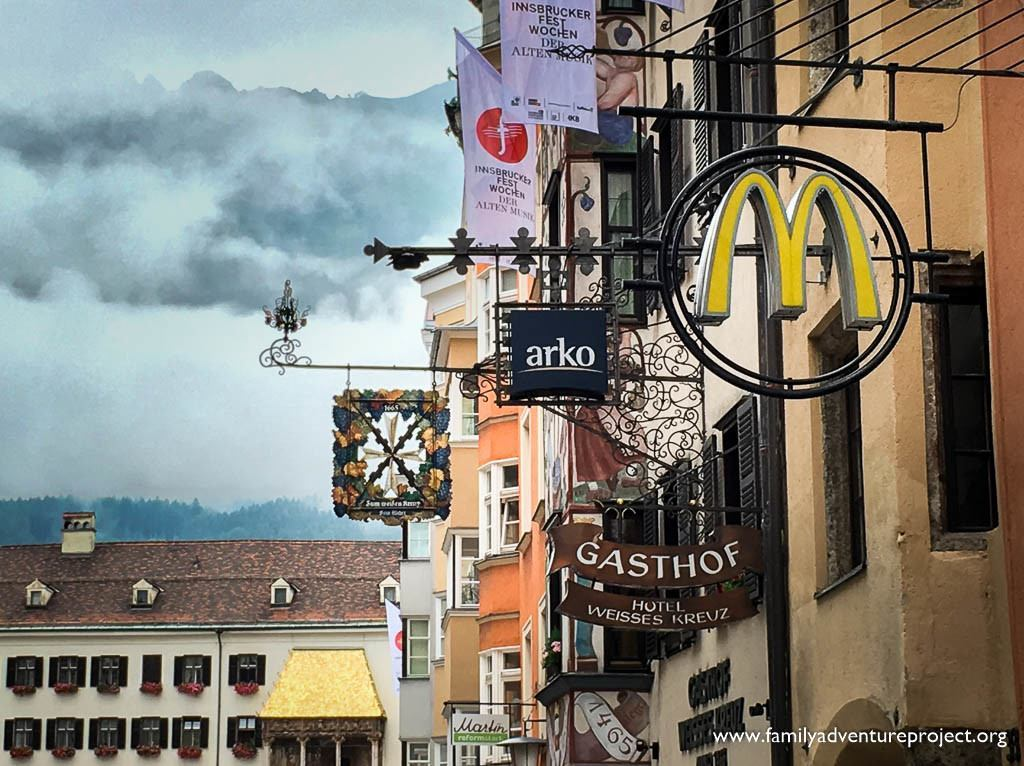Innsbruck signage - old and new