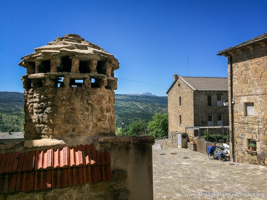 Chimney in Laguarda, Aragon, Pyrenees