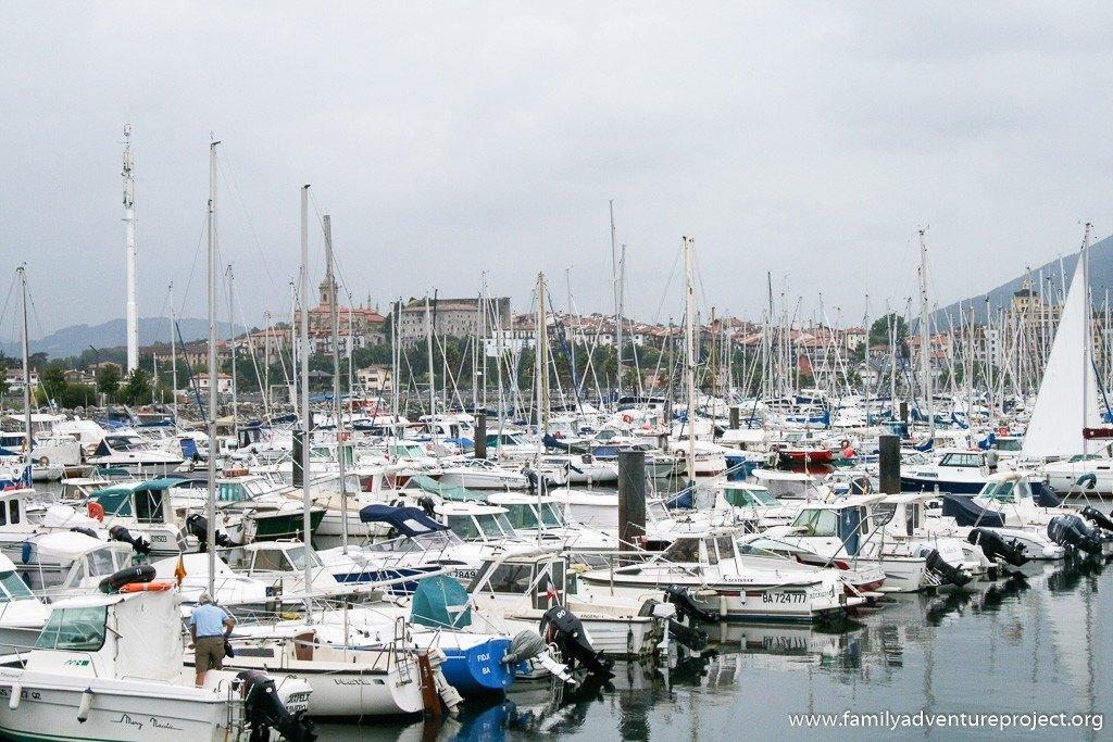 Marina in Hendaye, France