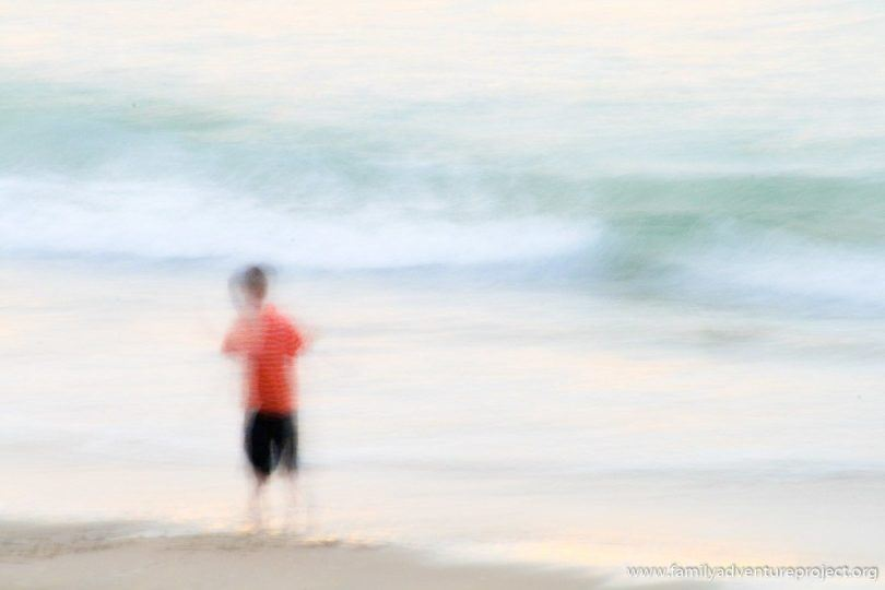Blurred lines at the beach