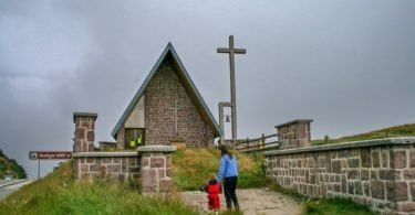 Church at Col de Ibaneta, Camino de Santiago