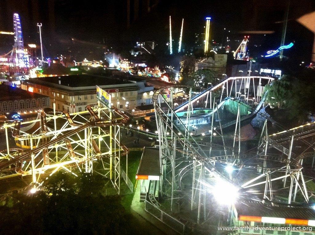 Vienna funfair at night