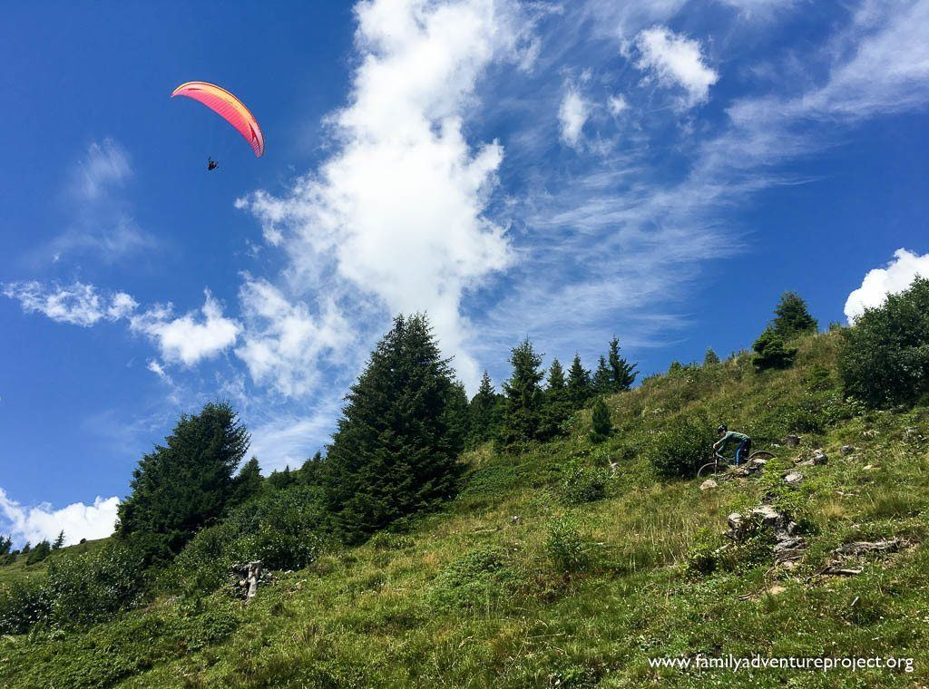 Mountain Biking and Paragliding in the Austrian Tirol on Penken