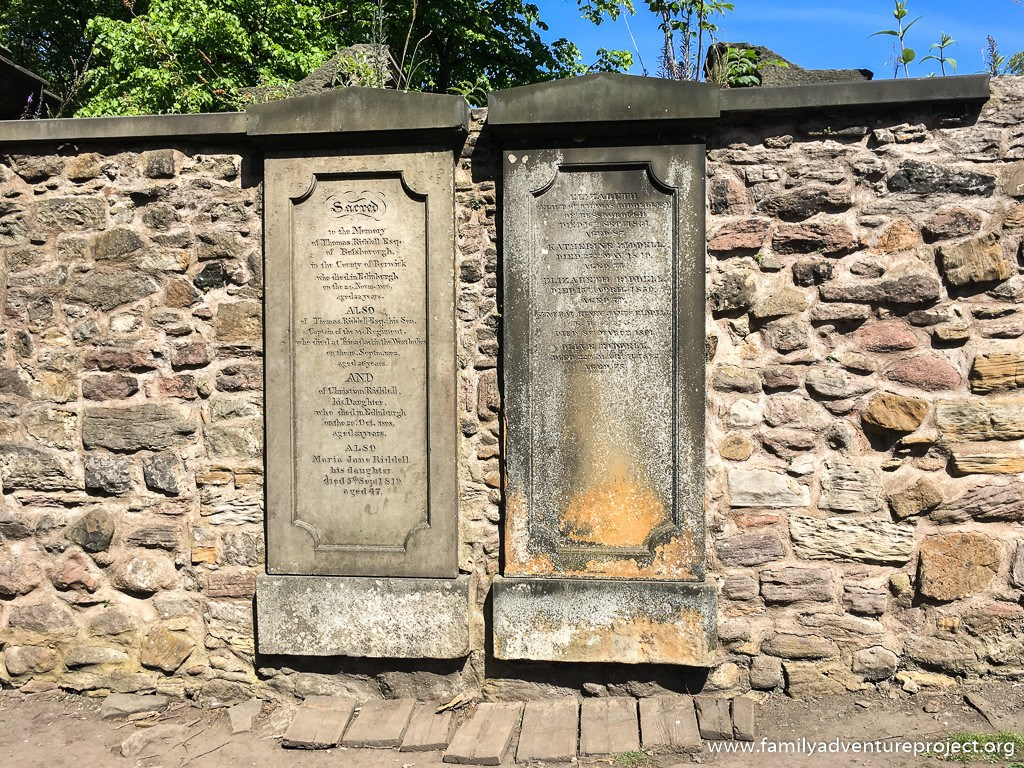 The grave of Thomas Riddell in Greyfriars Churchyard, said to be the inspiration for Lord Voldemort in Harry Potter stories