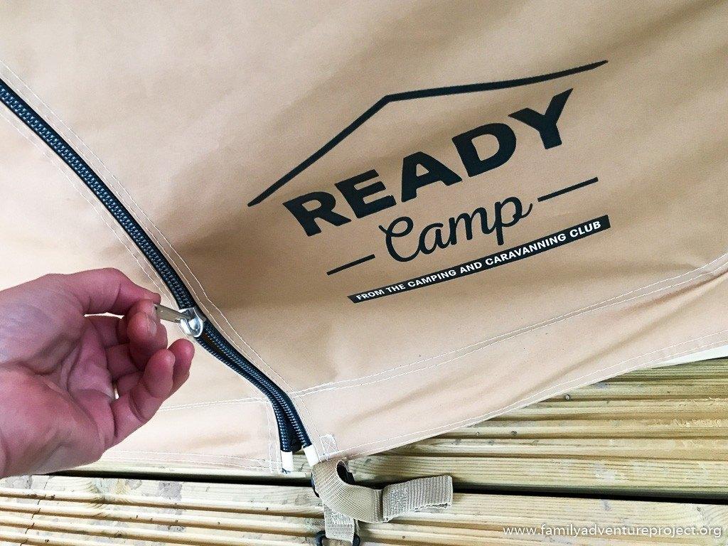 Unzipping the ReadyCamp tent
